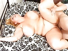 Chunky sweetheart Samantha 38G has her plump cunt drilled