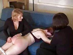 Avid Teacher Whipping A Girl