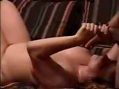 Watch raunchy homemade video with obese doll jerking off hard dick and petting balls of her spouse until this guy shoots his hot cum on her huge boobs.