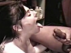 Slut Angie acquires a sperm shower from a large cock, all in slo motion. Angie sucks the jizz from a large 10-Pounder until that babe is sprayed with a giant facial