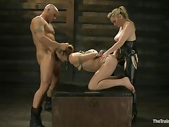 Chastity Lynn is a submissive angel eager to fulfill her darksome sexual desires. Aiden Starr and her ally Derrick Pierce are there to give her what she needs. The older hot honey with a ding-dong goes on and fucks her hairless pussy, while the white stud bashes her mouth roughly. They have a great time together.