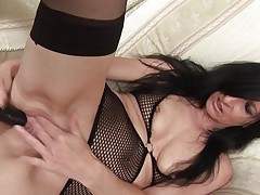With lengthy darksome hair, hawt thighs and a pussy that can still take a large dildo, 48 y. o. Debs shows us how that chick likes to masturbate. She's a wild one and has a lot greater quantity experience then that chick used to when that chick was younger. Check her out and how lustfully this mature whore fucks her shaved enchanting pussy. That chick needs our attention