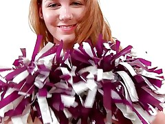 She's a natural beauty, big soft boobs, a pink pussy that's desirous for jock and cum inside it and long red hair. Her name is Bree and she wants to show us what she has from mother nature. Relax and have a fun the show Bree gives us, in the end she's a cheerleader and that's what she knows best!
