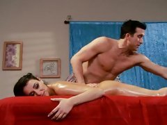 Sassy Charley Chase acquires a sexy rub down from a hunk