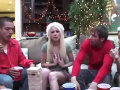 Fantastic Group Sex In Christmas Party