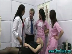 Cfnm doctor bitches take turns