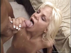 Sexual Shay Sweet gets her mouth filled with warm goo