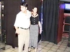 Preggy S&m gal screwed in sexshop